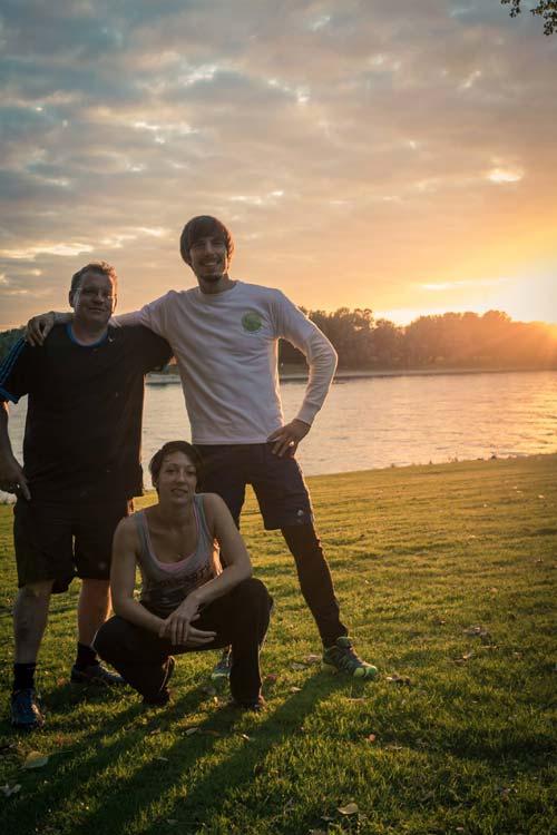 Outdoor Sport bei Sonnenuntergang