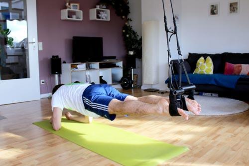Sling Trainer Übungen Recrunch Unterarmstütz