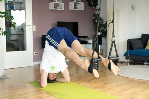 Sling Trainer Übungen Recrunch Unterarmstütz 90° Position