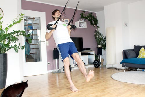 Sling Trainer Übungen Rudern einbeinig