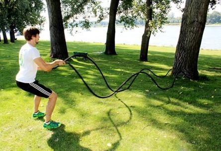 HIIT High Intensity Interval Training mit den Battle Rope