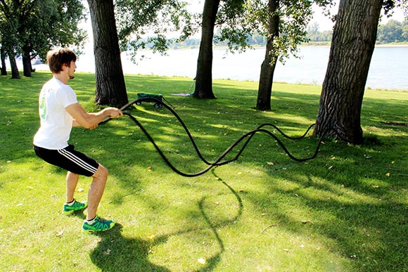 HIIT High Intensity Interval Training mit den Battle Rope