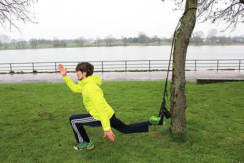 der Sprinter mit Schlingentrainer