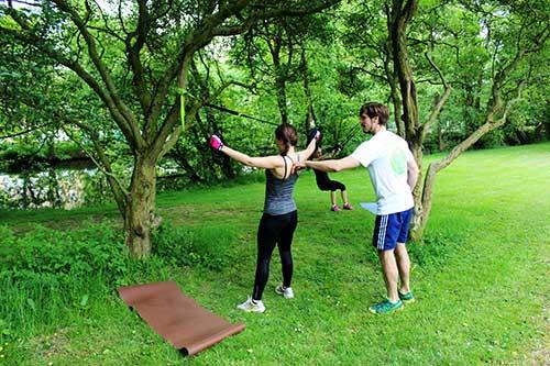 Sling Training beim Rückencamp