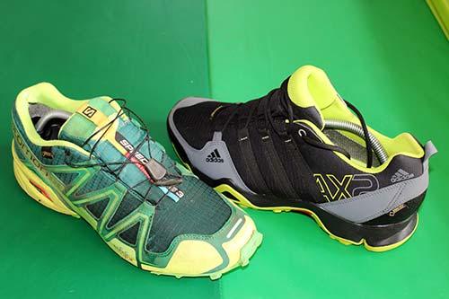 Trailrunningschuhe Test - adidas AX2 GTX und Salomon Speedcross 3 GTX