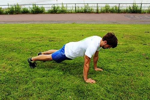 Plank-to-Push-Up-Position