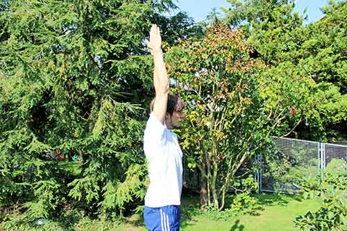 Schulterberweglichkeit erhöhen mit einer Übung - vorher-nachher Test