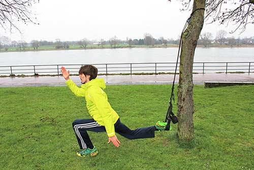 Training im Freien mit Sling Trainer im Winter bei Nässe, Kälte, Wind oder Schnee