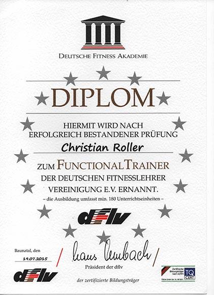 Qualifikationen-Lizenzen-Diplome Functional Trainer