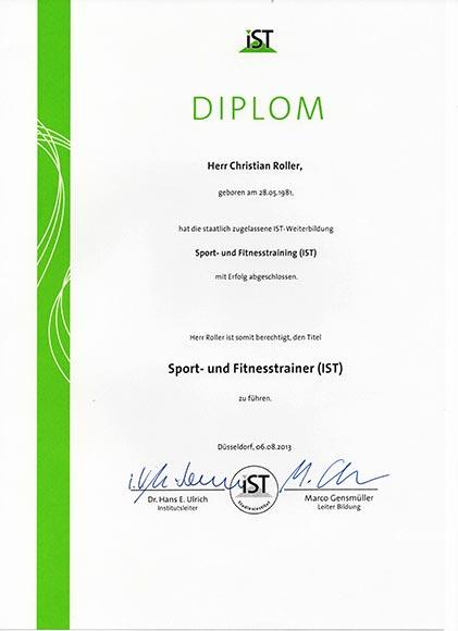 Qualifikationen-Lizenzen-Diplome Sport- und Fitnesstrainer