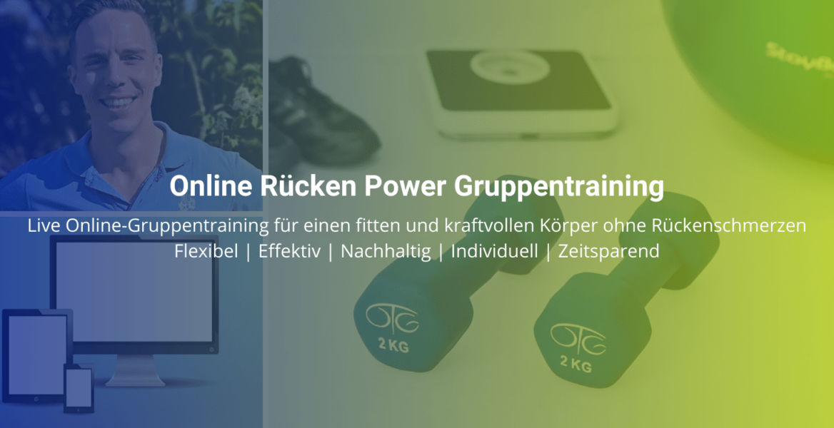 Online Rücken Power Gruppentraining